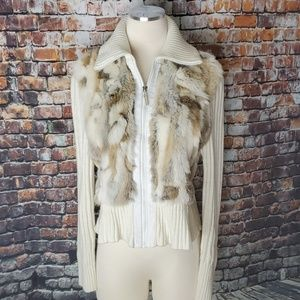Vintage Jennyfer J Fur Sweather Jacket Size L
